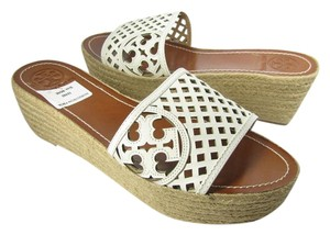 Tory Burch Espadrille Wedge Platform white Sandals