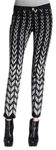 Current/Elliott Chevron Ankle Skinny Jeans-Coated