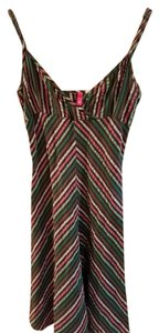H&M short dress Brown stripe on Tradesy