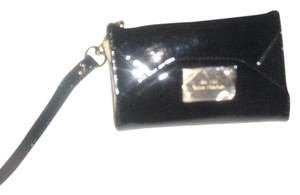 Michael Kors Michael Kors Black Patent Leather Clutch I Phone 4 Wristlet Wallet
