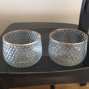 Clear/gold Rim Vases
