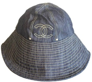 Chanel Denim Floppty CC Hat