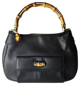 Gucci Hobo Leather Satchel in black