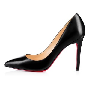 Christian Louboutin Leather Stiletto Classic Black Pumps
