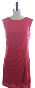 Ann Taylor LOFT short dress Pink Ruched Simple Sleeveless on Tradesy