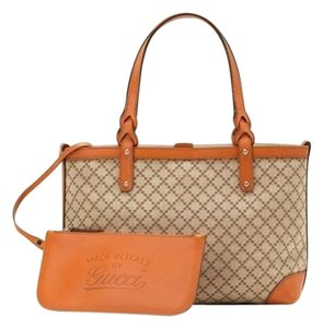 Gucci Craft Gg 269878 Tote in Beige/ Orange