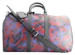Louis Vuitton Monogramouflage Limited Edition Camo Cobalt Bordeaux Travel Bag
