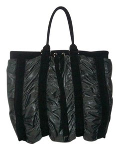 Donald J. Pliner Tote in Metallic Grey/Black