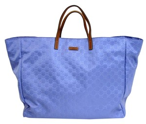 Gucci Gg Nylon Tote in Blue