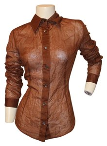 Dolce&Gabbana D&g Sheer Size Medium Top Burnt Orange