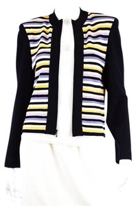 St. John Striped St Collection Cardigan
