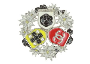 Chanel Chanel 15A Resin Camellia CC Badge Brooch