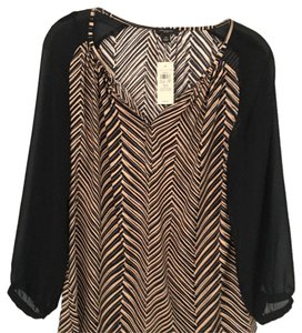 Ann Taylor Top Black and tan