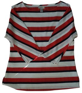 Ann Taylor LOFT Top Red white blue