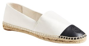 Tory Burch Ivory/Black Flats