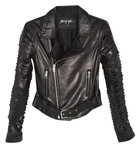 Nasty Gal Moto Moto Leather Leather Motorcycle Jacket