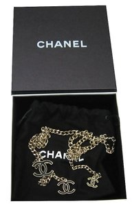 Chanel Chanel Belt Necklace Black CC Logo Gold Chain 2013 Authentic