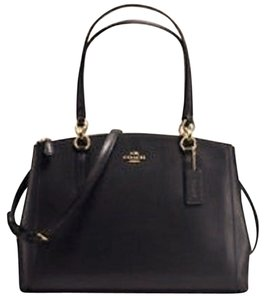 Coach Leather Carryall Satchel in Black