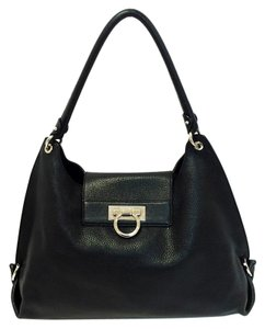 Salvatore Ferragamo Fanisa Pebbled Leather Hobo Bag