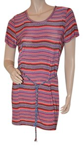 T-Bags Los Angeles short dress Multicolor Stripes Summer on Tradesy