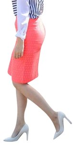 J.Crew Back Vent Lined Sits At Waist Pencil Skirt Coral