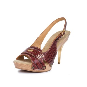 Dsquared2 Genuine Leather Slingback Sandals 2 Brown Pumps