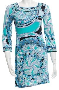 Emilio Pucci Silk Silver Hardware Maxi Bandage V-neck Dress