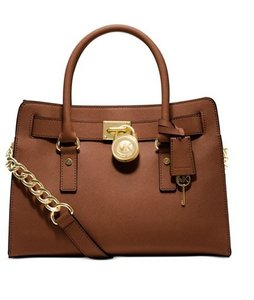 Michael Kors Gold Tan Satchel in Luggage