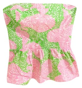 Lilly Pulitzer Shandy Top Limeade Cheat Ya (Pink & Green)