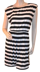 Alice + Olivia short dress Black/white Summer Stripes Black on Tradesy