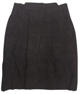 Giorgio Armani Silk Blend Pencil Dress Skirt Gray