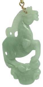Other 14K Yellow Gold Horse Jade Pendant