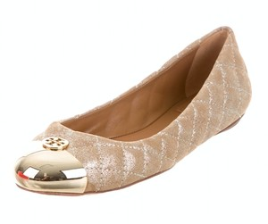 Tory Burch Quilted Ballet Flat Metallic gold Flats