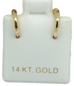 14K Yellow Gold Small Huggie Hoop Earrings