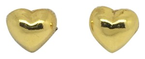 Other 24K Solid Gold Puffy Heart Stud Earrings