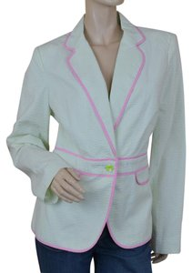 Lilly Pulitzer Seersucker Stripes Preppy Nwt Green Blazer