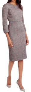 J.Crew Fully Lined Tweed Pleated Dress