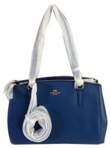 Coach Blue Crossbody Large Satchel in Bright Mineral