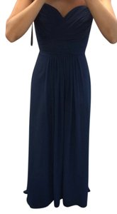 Bill Levkoff Bridesmaid Formal Gown Wedding Attire Nautical Wedding Navy Dress