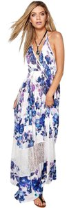 purple Maxi Dress by Other Bare Back Floral Maxi Halter Top Vacation