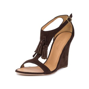Dsquared2 2 Suede Wedge Wedges Brown Sandals