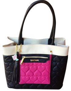 Betsey Johnson Tote Tote in Black/pink