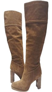 Michael Kors Tall Suede Tan Boots