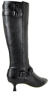 Vaneli Leather Black Boots