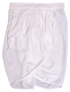 BCBG Max Azria Silk Skirt White