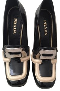 Prada Loafer Patent Leather Black Pumps