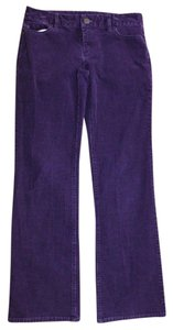 J.Crew Favorite Fit Cords Corduroy Straight Pants PURPLE