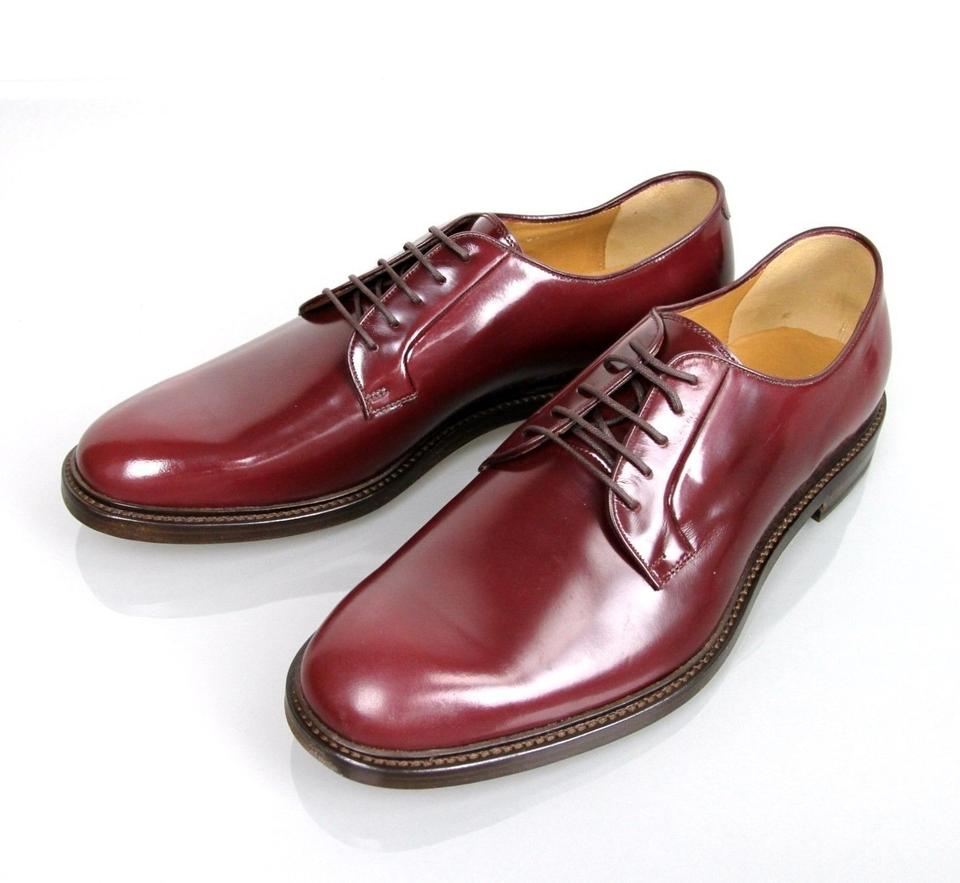 a4fe3496872 Gucci Wine Red Men s Leather Lace-up Oxford 9.5  Us 10.5 295618 6083 Shoes