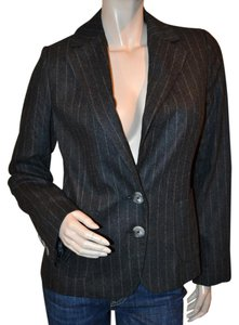 Banana Republic Lined Wool New Pinstripes Dark gray Blazer