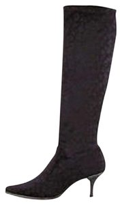 Donald J. Pliner Animal Print Black Boots